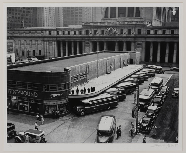 Berenice Abbott, 'Greyhound Bus Terminal, 33rd and 34th Streets between 7th and 8th Avenues', 1938, Doyle