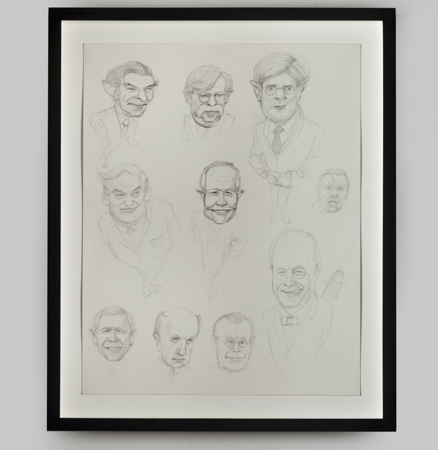 Jim Shaw, 'Study for Neo-Conservative Gremlins', 2007, Drawing, Collage or other Work on Paper, Pencil on paper, MCASD Benefit Auction