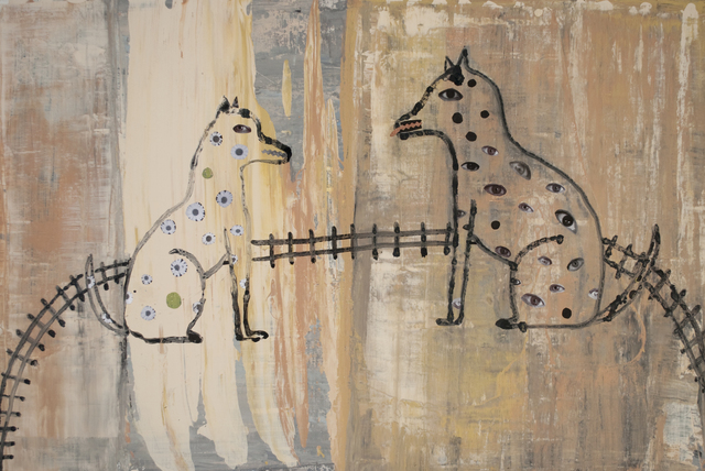 , 'Two Dogs in their Backyard,' 2016, Turner Carroll Gallery