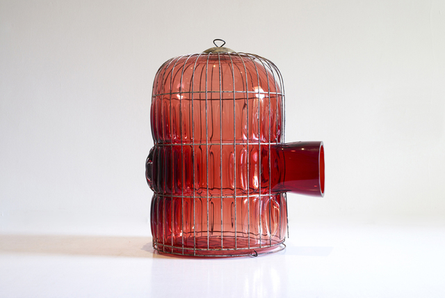 , 'Red Large Cage,' 2014, Marion Friedmann
