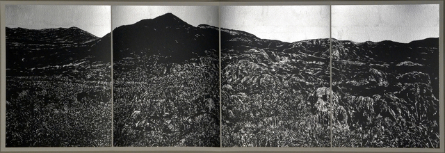 Jan Hendrix, 'Book VI, a.', 2016, Print, Screen print and silver foil on paper, Anémona Editores