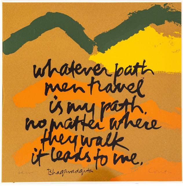 Corita Kent, 'Whatever Path ', 1978, Print, Serigraph on paper, Fine Art Advisory