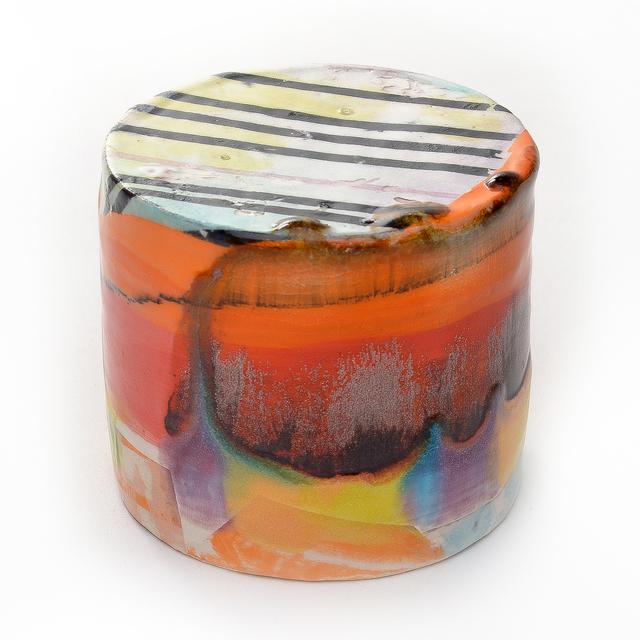 Lauren Mabry, 'Mini Enclosed Cylinder 20.13', 2020, Sculpture, Earthenware, slips, glaze, Pentimenti Gallery