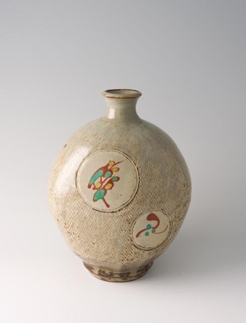 Tatsuzo Shimaoka, 'Bottle, rope and slip inlay with wax resist overglaze enamel decoration', Pucker Gallery