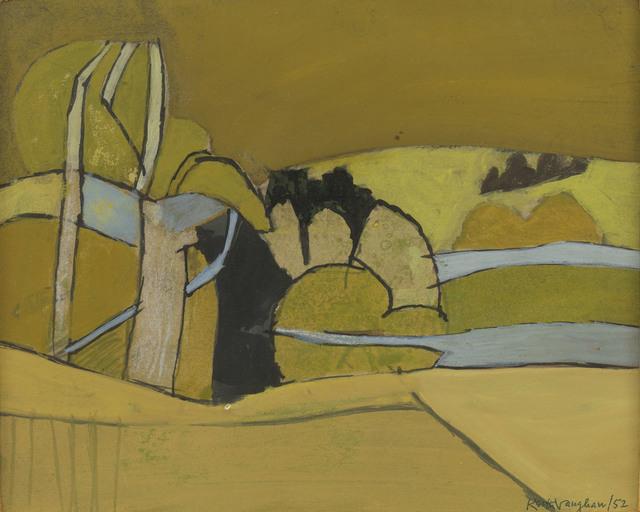 , 'Ochre Landscape,' 1952, Osborne Samuel