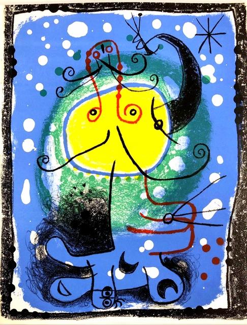 Joan Miró, 'Personnage sur fond bleu', 1957, Print, Original lithograph on wove paper, Samhart Gallery
