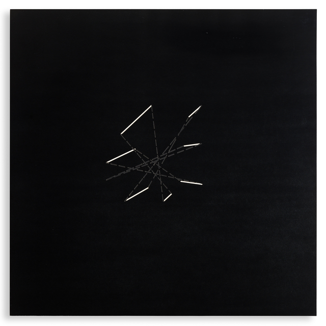 Vincenzo Agnetti, 'Assiome', 1971, Painting, Engraved bakelite (type of resin) painted with white nitratine, Repetto Gallery