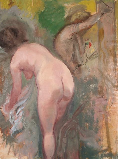 George Grosz, 'Maler und Modell', 1939, Henze & Ketterer