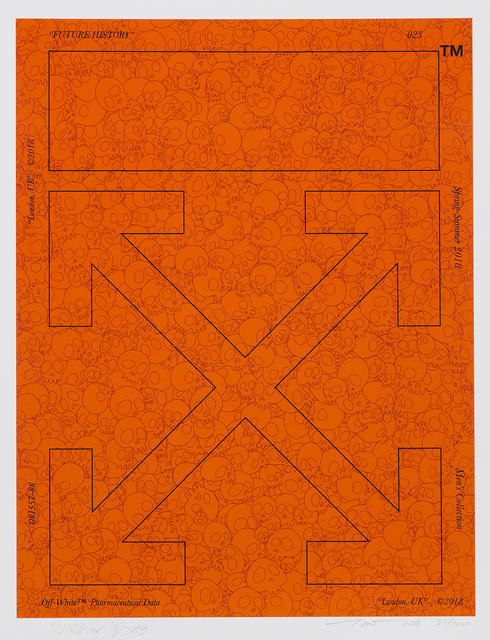 Takashi Murakami, 'Memento Mori Fluorescent Orange', 2018, Roseberys