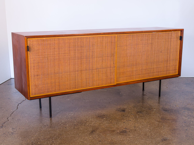 , 'Walnut and Woven Cane Credenza,' ca. 1950, Open Air Modern