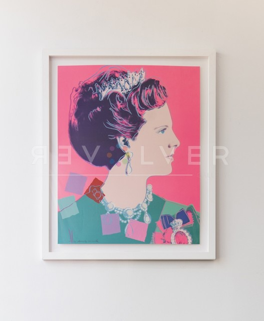 Andy Warhol, 'Queen Margrethe II of Denmark (FS II.345)', 1985, Print, Screenprint on Lenox Musem Board with Diamond Dust, Revolver Gallery