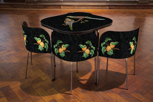 , 'Pietre Dure; FUSION Table and Chairs, The Paradise Parrot.,' 2015, Margaret Thatcher Projects