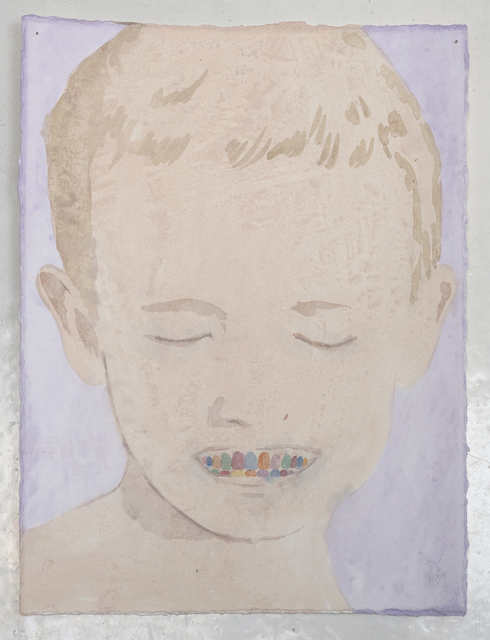 James Rielly, 'New teeth', 2020, Painting, Watercolour on paper, Alzueta Gallery