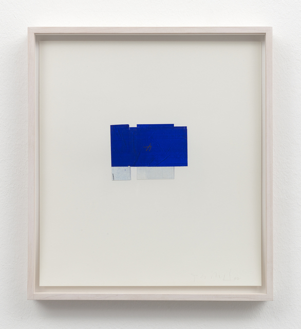 , 'folded drawing (blue and white),' 2002, Galerie Christian Lethert