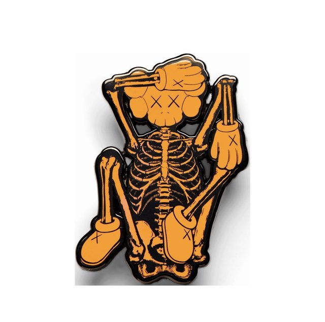 KAWS, 'KAWS x NGV skeleton pin, 2019', 2019, Design/Decorative Art, Pin, Curator Style