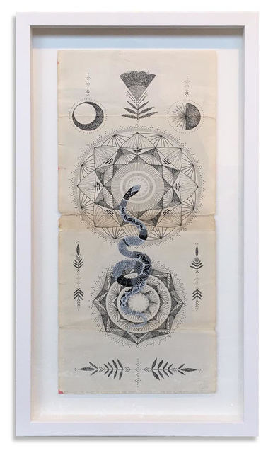 , 'Equinox: The power of life causes the snake to shed its skin just as the moon sheds its shadow,' 2015, StolenSpace Gallery