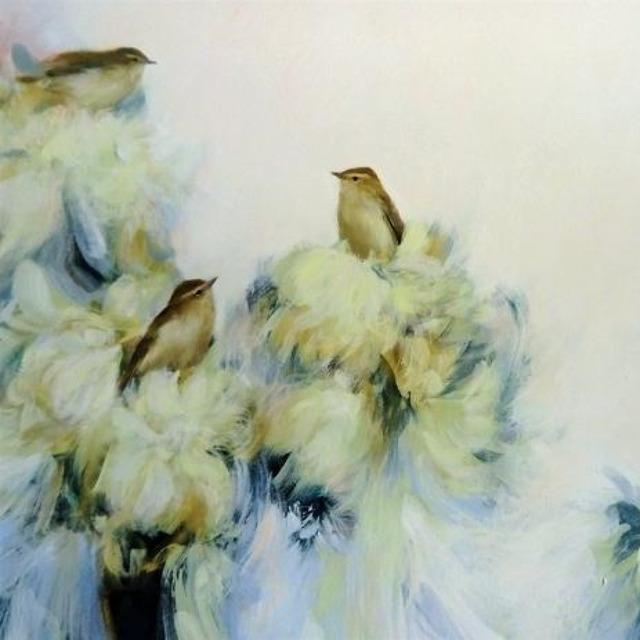 , 'Five Warblers in White,' 2019, Art5 Gallery