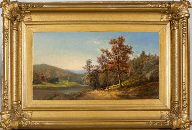 Charles Volkmar, 'On the Hudson', 1867, Painting, Oil on canvas, Questroyal Fine Art