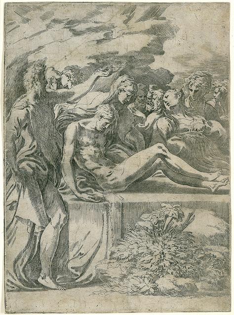 Francesco Mazzola, called Parmigianino, 'The Entombment of Christ', 1527, Blanton Museum of Art