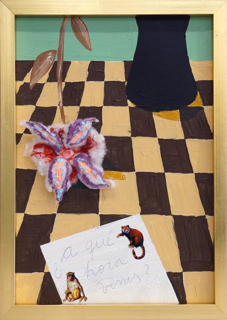 Fernanda Laguna, '¿A qué hora venís?', 2018, Painting, Mixed media, Nora Fisch