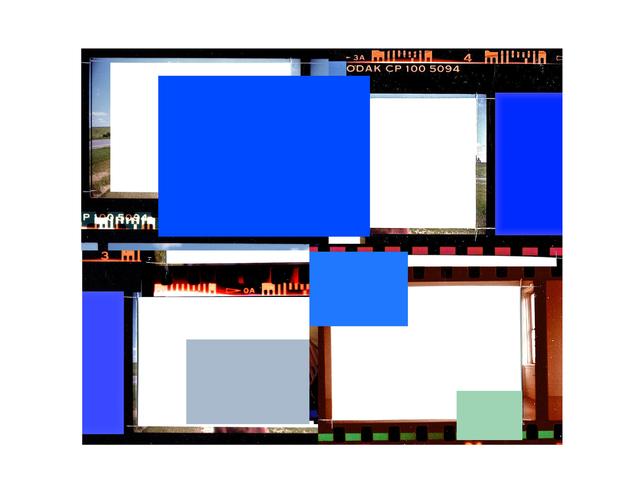 , 'Folio au carré bleu (d'après Réflexion intérieure),' 2014, Galerie Graff