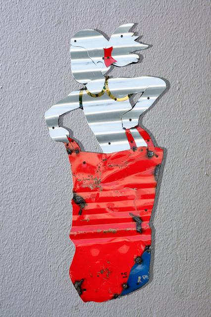 , 'Girl jumping with a sac,' 2015, al markhiya gallery