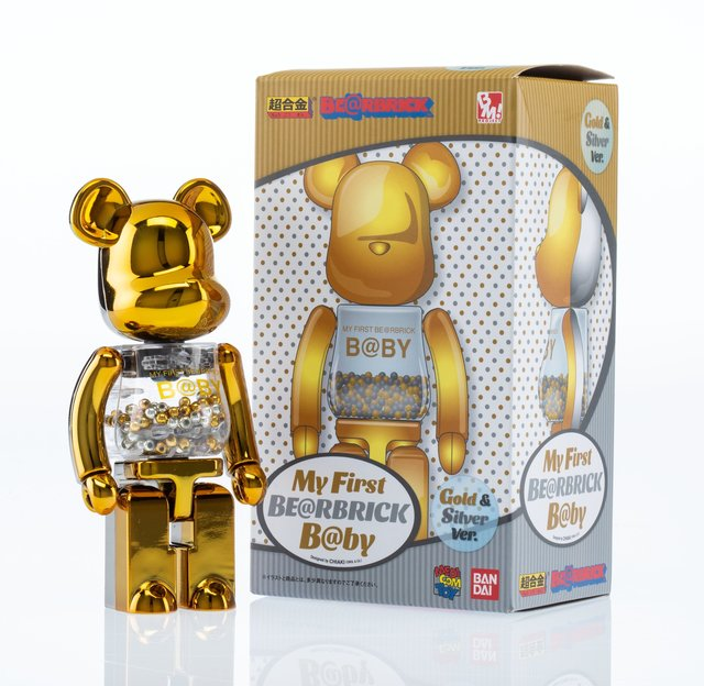 BE@RBRICK, 'My First Be@rbrick B@by 200% (Gold and Silver)', 2017, Heritage Auctions