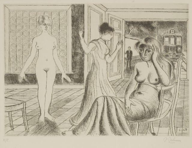 Paul Delvaux, 'La Chambre (The Room) (Jacob 29)', 1969, Sworders