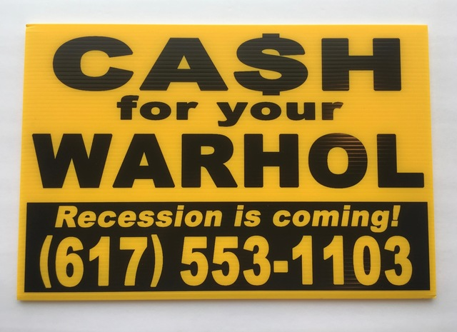 Andy Warhol, 'Cash for your Warhol (Yellow/Black Recession) A/P', 2018, Gallery 52