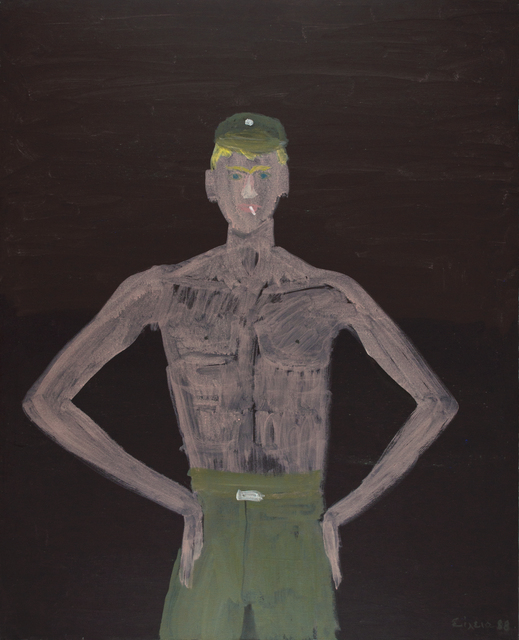 Celia Daskopoulou, 'Untitled (soldier)', 1988, Painting, Acrylic on canvas, CAN Christina Androulidaki