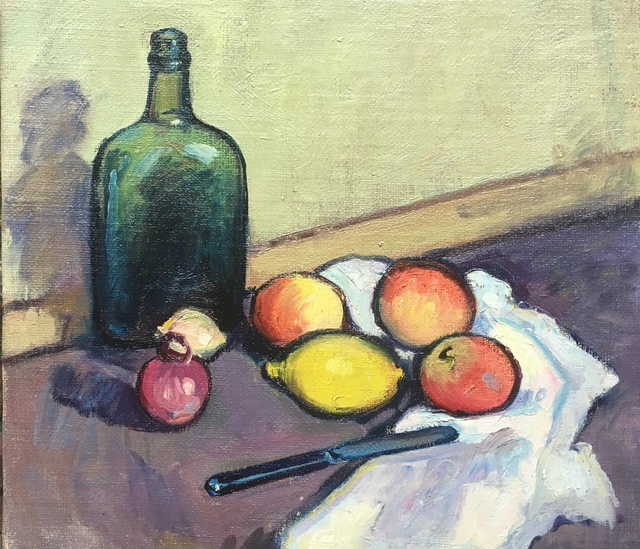 , 'Still Life With Green Bottle,' Mid 20th century, Bakker Gallery