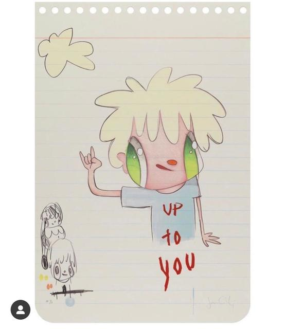 Javier Calleja, 'Up To You', 2020, Print, Mixed media screenprint, 3 White Dots