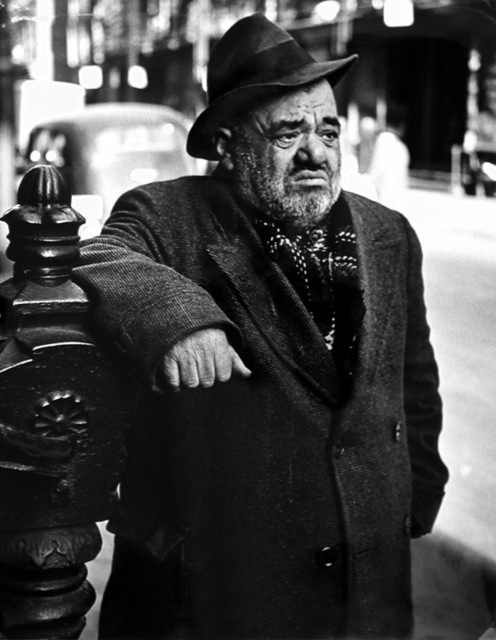 , 'Lower East Side (man), New York,' ca. 1939, Robert Mann Gallery