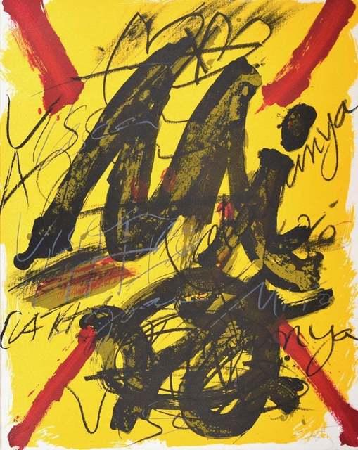 Antoni Tàpies, 'L'émerveille Merveilleux, Hommage Joan Mirò', 1973, Wallector