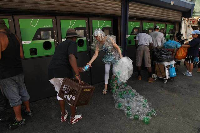 Dominique Paul, 'Increasing Revenue Gap Dress at 125th Street Bottle Depot, Harlem, New York', 2015, MIYAKO YOSHINAGA