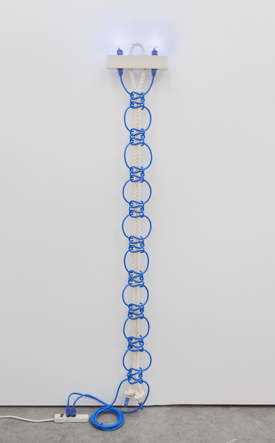 , 'Untitled (Blue Extension Cords, Rope),' 2016, Eleanor Harwood Gallery
