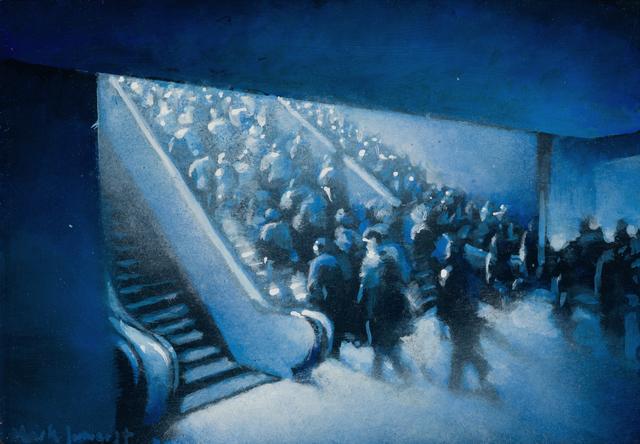 , 'Leaving Penn Station ,' 2018, DC Moore Gallery
