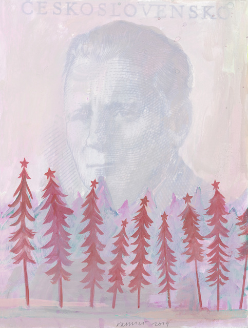 Jan Vanriet, 'Heldenleven 29, Nostalgia', 2019, Drawing, Collage or other Work on Paper, Gouache on paper, Galerie Zwart Huis