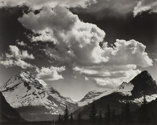, 'Noon clouds, Glacier Park, Montana,' 1942, George Eastman Museum
