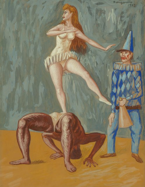 Raúl Anguiano, 'Untitled (Circus Act)', 1943, Heritage Auctions