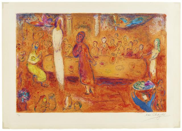 Marc Chagall, 'Mégaclès reconnait sa Fille pendant le Festin, from Daphnis et Chloé', 1961, Christie's