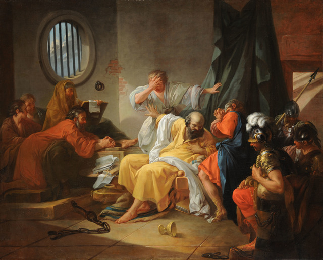 , 'Death of Socrates,' 1762, American Federation of Arts
