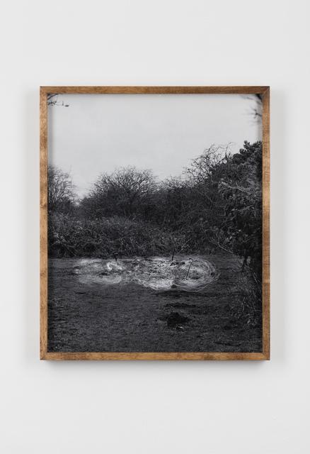 , 'Scratched Photograph of Dig Shovel Dig, Aldeburgh Cliffs / Dig Shovel Dig, Aldeburgh Cliffs,' 2016, Laure Genillard