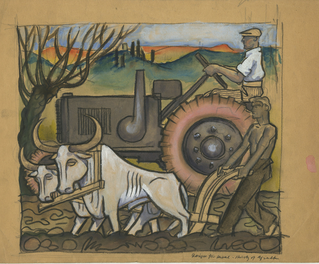 , 'Design for Agriculture Mural,' , Childs Gallery
