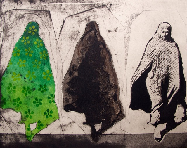 , 'Three Women in Green Pattern,' 2015, Susan Eley Fine Art