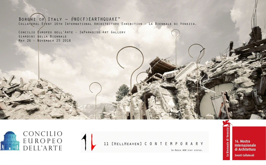 "'Operazione Dimmi Amatrice' (detail). Installation, ""Borghi of Italy – #NO(F)EARTHQUAKE"". Collateral Event