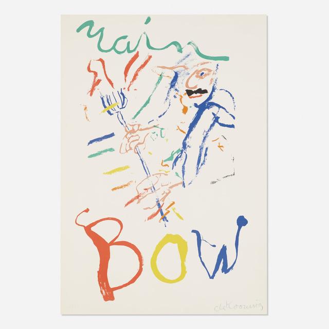 Willem de Kooning, 'Rainbow: Thelonius Monk, Devil at the Keyboard', 1972 / 1976, Wright
