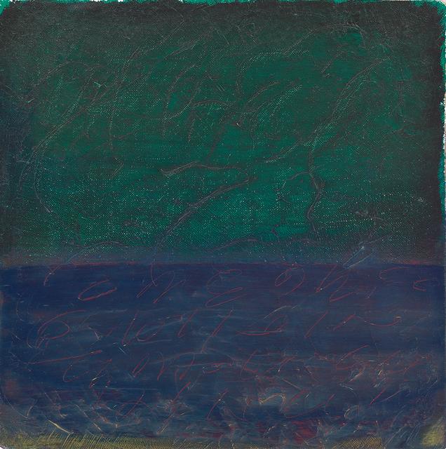, 'Shorthand,' 1988, Locks Gallery