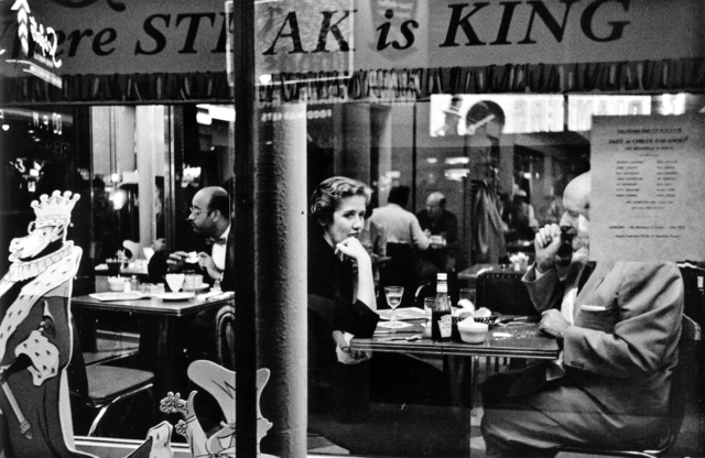 , 'Couple in Café Window, Times Square, New York City,' 1956, Bruce Silverstein Gallery
