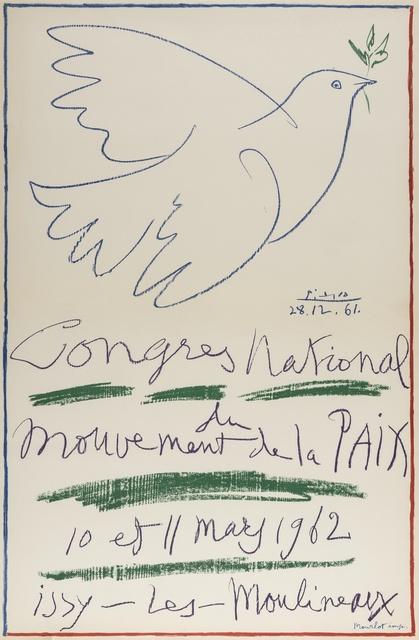 Pablo Picasso, 'Congrès National du mouvement de la Paix (Czwiklitzer 174)', 1962, Print, Lithograph printed in colours, Forum Auctions